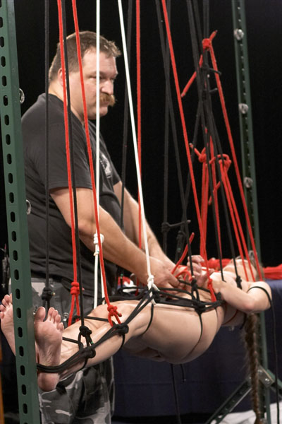 Bondage rope suspension techniques